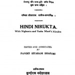 Hindi Nirukt by पण्डित सीताराम शास्त्री - Pandit Sitaram Shastri