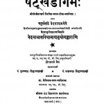 The Satkhandagama - Vol 12 by श्री हीरालाल जैन - Shri Hiralal Jain