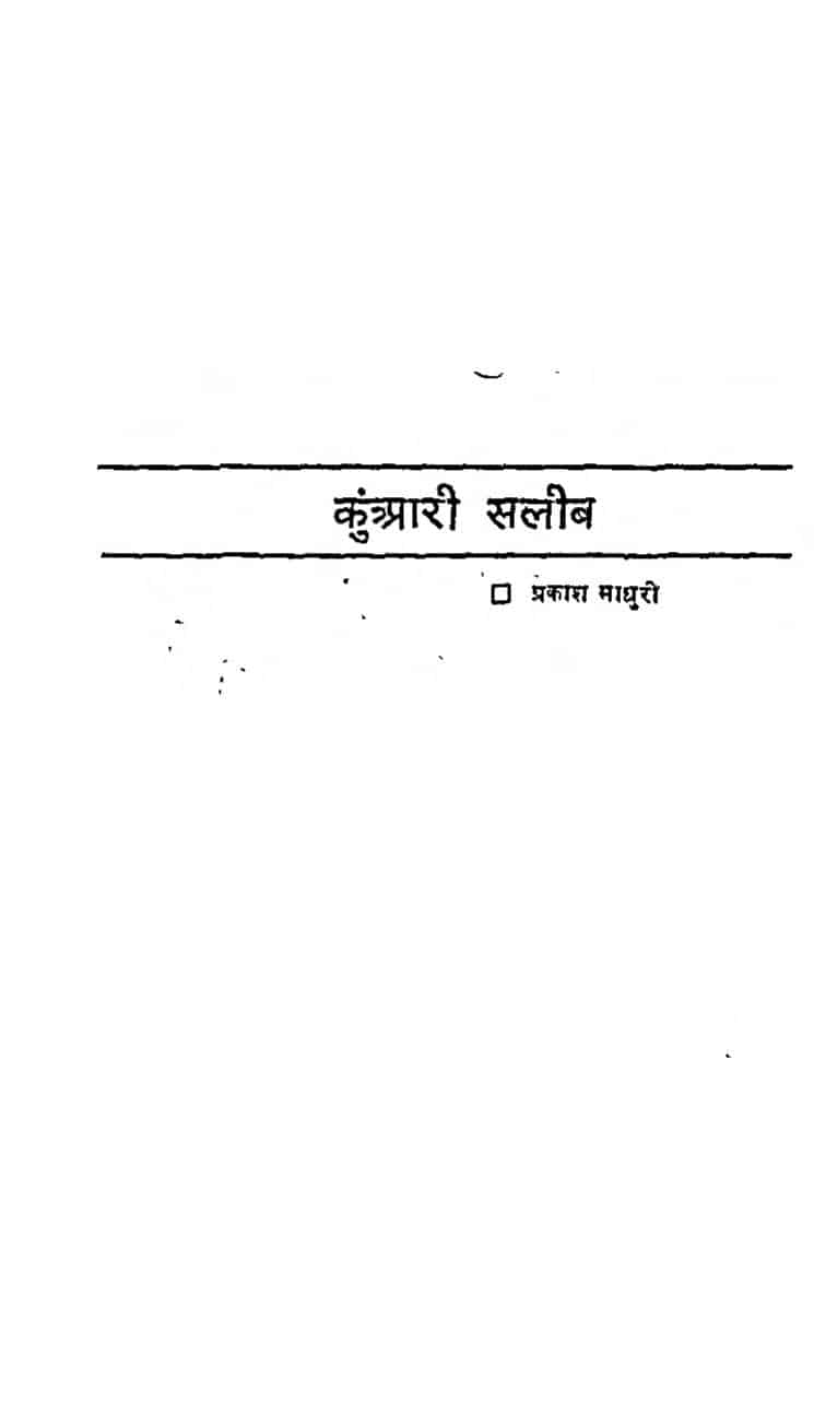 Book Image : कुआंरी सलीब - Kuaanri Saleeb