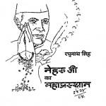 Neharu Ji Ka Mahaprasthan by रघुनाथ सिंह - Raghunath Singh