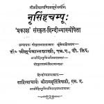 Nrisinghchampu by सूर्यकान्त शास्त्री - Suryakant Shastri