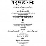 Shatkhandagam by हीरालाल जैन - Heeralal Jain