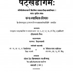 Shatkhandagama by हीरालाल जैन - Heeralal Jain