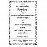 Binduyog by पं ज्वालाप्रसाद मिश्र - Pn. Jvalaprsad Mishr