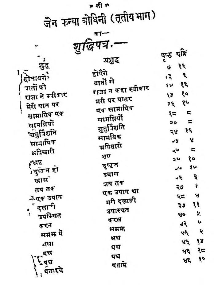 Book Image : जैन कन्या बोधिनी तृतीया भाग - Jain Kanya Bodhini Bhag 3
