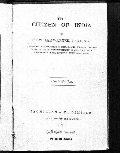 The Citizen Of India Hindi Edition by सर डब्ल्यू. ली वार्नर - Sir W. Lee Warner
