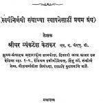 Nishastraanchen Rajkaran by श्रीधर व्यंकटेश केतकर - Sridhar Vyankatesh Ketakar