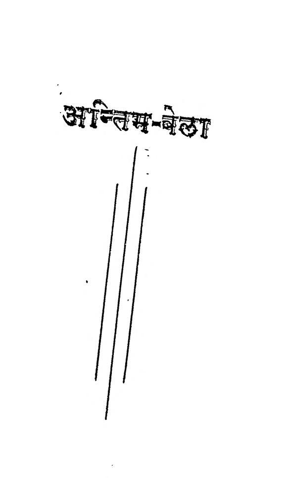 Book Image : अंतिम बेला  - Antim Bela
